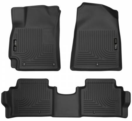 Husky Liners - Husky Liners 2017 Hyundai Elantra Weatherbeater Black Front and Second Row Floor Liners