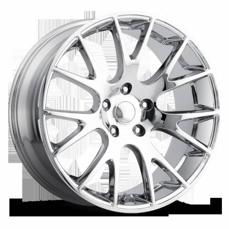 Factory Reproductions Wheels - FR Series 70 Replica Hellcat Wheel 20X9 5X5 ET30 71.5CB Chrome