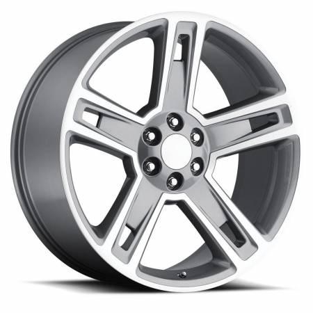 Factory Reproductions Wheels - FR Series 34 Replica Silverado/Sierra Wheel 22x9 6X5.5 ET24 78.1CB Black Machine Face