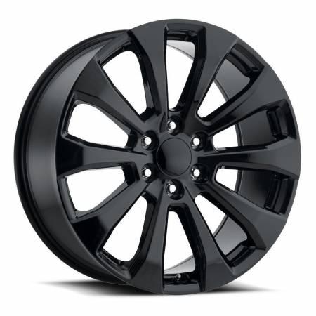 Factory Reproductions Wheels - FR Series 92 Replica Silverado Split Wheel 22x9 6X5.5 ET28 78.1CB Gloss Black