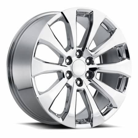 Factory Reproductions Wheels - FR Series 92 Replica Silverado Split Wheel 22x9 6X5.5 ET28 78.1CB Chrome