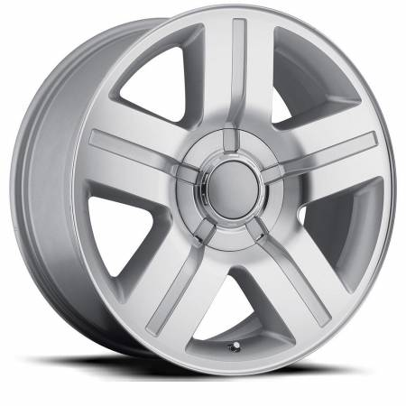Factory Reproductions Wheels - FR Series 37 Replica Silverado Wheel 22X9 6X5 ET0 78.1CB Silver Machine Face