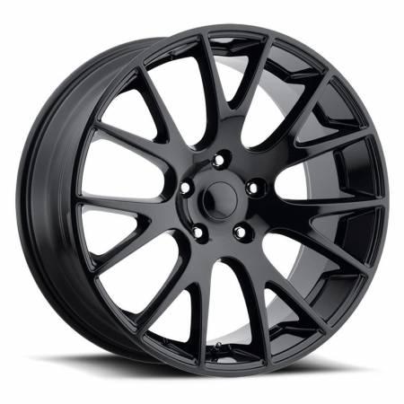 Factory Reproductions Wheels - FR Series 70 Replica Hellcat Wheel 22X10 5X5.5 ET25.4 77.8CB Gloss Black