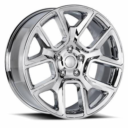 Factory Reproductions Wheels - FR Series 76 Replica Ram 1500 Wheel 22X9 5X5.5 ET15 77.8CB Chrome