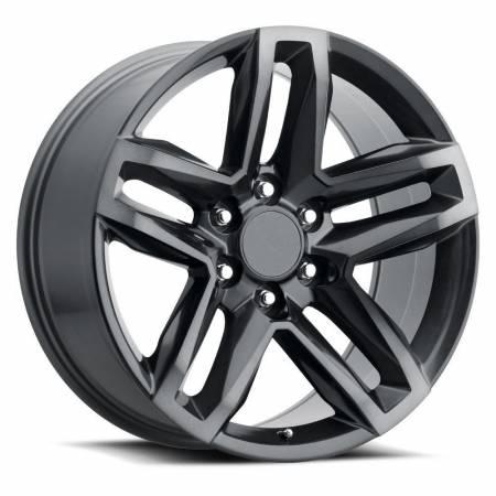 Factory Reproductions Wheels - FR Series 94 Replica Z71 Wheel 22x9 6X5.5 ET15 78.1CB Satin Titanium Grey Machine Face wDark Clr