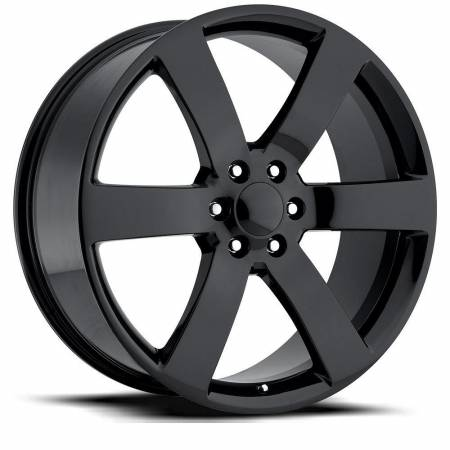 Factory Reproductions Wheels - FR Series 32 Replica Tahoe Wheel 20X9 6X5.5 ET45 78.1CB Gloss Black