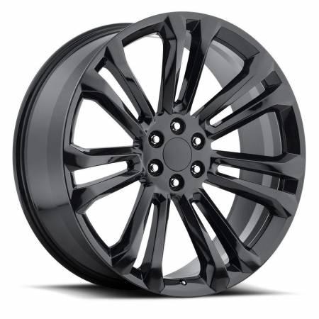 Factory Reproductions Wheels - FR Series 55 Replica GMC Wheel 24X10 6X5.5 ET31 78.1CB Gloss Black