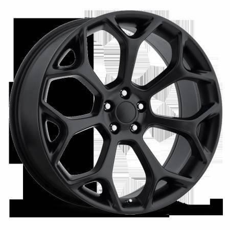 Factory Reproductions Wheels - FR Series 71 Replica Chrysler 300 Wheel 22X9 5X115 ET18 71.5CB Satin Black
