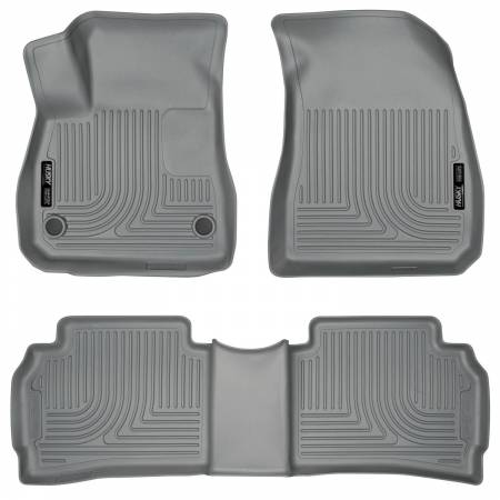 Husky Liners - Husky Liners 2016 Chevy Malibu WeatherBeater Front and 2nd Seat Gray Floor Liners