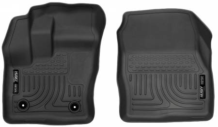 Husky Liners - Husky Liners 2014-2015 Ford Transit Connect WeatherBeater Front Black Floor Liners