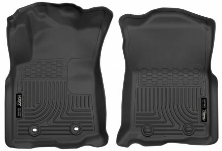 Husky Liners - Husky Liners 2016 Toyota Tacoma w/ Auto Trans WeatherBeater Front Black Floor Liners