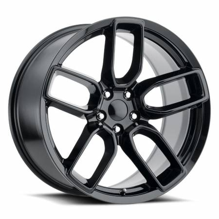 Factory Reproductions Wheels - FR Series 74 Replica Hellcat Wheel 20X10.5 5X115 ET22 71.5CB Gloss Black