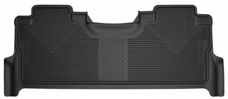 Husky Liners - Husky Liners 2017 Ford F-250 Super Duty Crew Cab X-Act Contour Black Rear Floor Liners