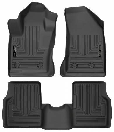 Husky Liners - Husky Liners 2017 Jeep Compass Weatherbeater Black Front & 2nd Seat Floor Liners