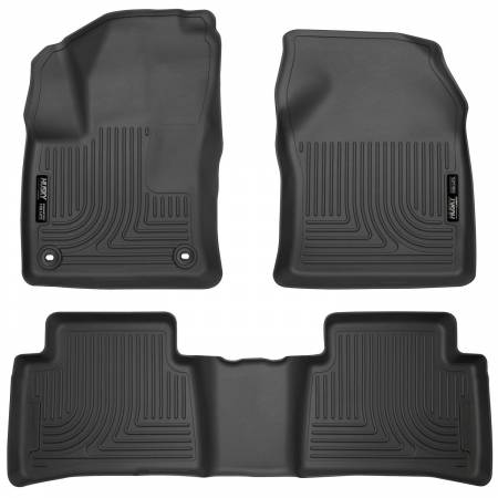 Husky Liners - Husky Liners 2016 Toyota Prius Weatherbeater Black Front & 2nd Seat Floor Liners (Footwell Coverage)