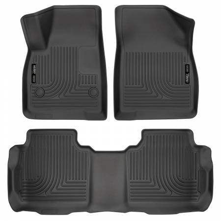 Husky Liners - Husky Liners Weatherbeater 2017 Cadillac XT5 / 2017 GMC Acadia Front & 2nd Seat Floor Liners - Black