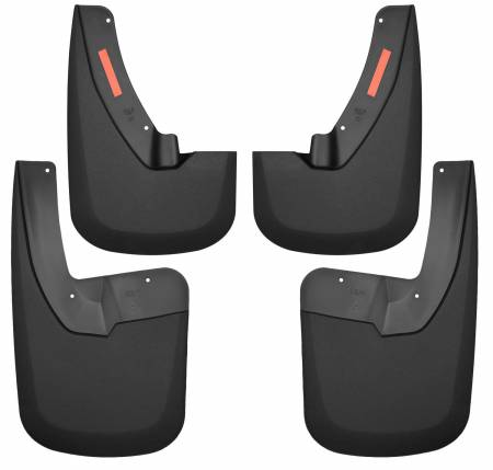 Husky Liners - Husky Liners 09-17 Dodge Ram 1500/2500 Both w/ OE Fender Flares Front and Rear Mud Guards - Black