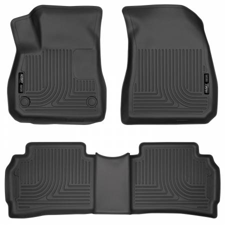 Husky Liners - Husky Liners 2016 Chevy Malibu Weatherbeater Black Front & 2nd Seat Floor Liners (Footwell Coverage)