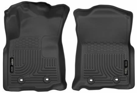 Husky Liners - Husky Liners 2018 Toyota Tacoma Double Cab WeatherBeater Black Front Floor Liners