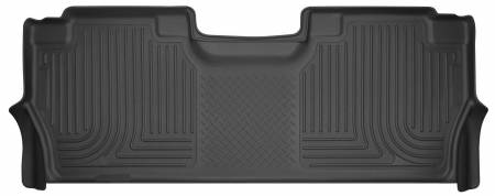 Husky Liners - Husky Liners 2017 Ford Super Duty (Crew Cab) WeatherBeater Black Rear Floor Liners