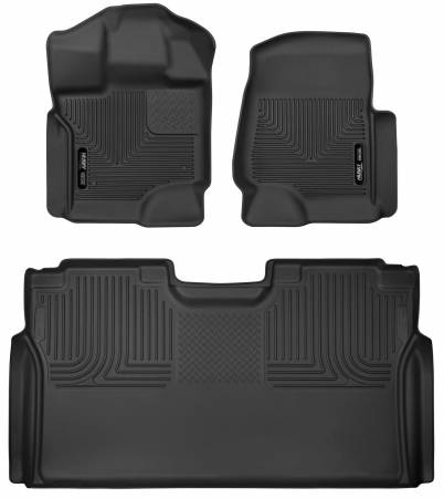 Husky Liners - Husky Liners 15-19 Ford F-150 SuperCrew Cab Front & 2nd Seat X-Act Contour Floor Liners