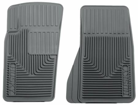 Husky Liners - Husky Liners 07-11 Jeep Wrangler (Base/Unlimited)/02-07 Liberty Heavy Duty Gray Front Floor Mats