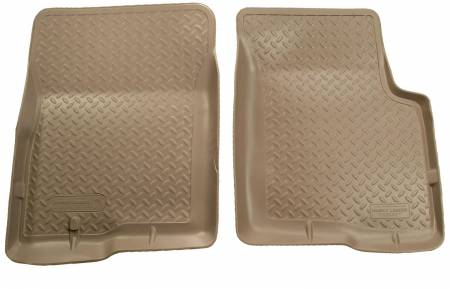 Husky Liners - Husky Liners 01-04 Toyota Tacoma Double Cab Classic Style Tan Floor Liners