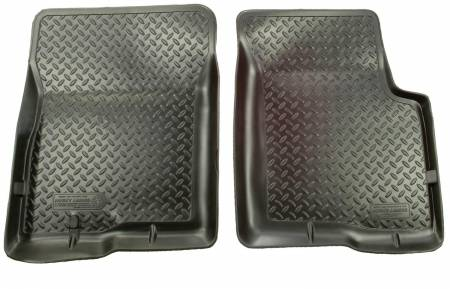 Husky Liners - Husky Liners 99 Ford F Series HD/SuperDuty Reg/Super/Super Crew Cab Classic Style Black Floor Liners