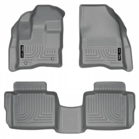 Husky Liners - Husky Liners 10-13 Ford Taurus WeatherBeater Combo Gray Floor Liners
