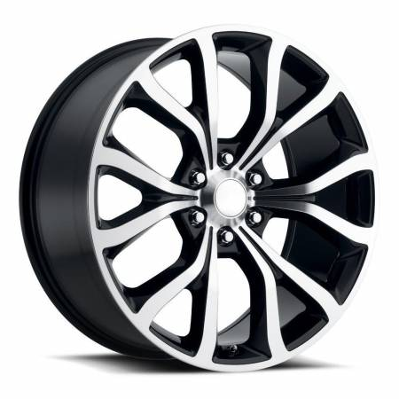 Factory Reproductions Wheels - FR Series 52 Replica Ford Expedition Wheel 22X9.5 6X135 ET44 87.1CB Gloss Black Machine Face