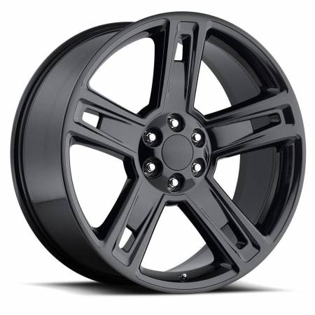 Factory Reproductions Wheels - FR Series 34 Replica Silverado/Sierra Wheel 22x9 6X5.5 ET24 78.1CB Gloss Black