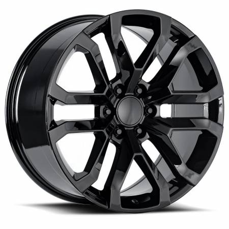 Factory Reproductions Wheels - FR Series 95 Replica Denali Wheel 22x9 6X5.5 ET24 78.1CB Gloss Black