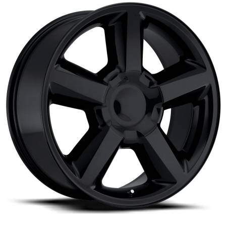 Factory Reproductions Wheels - FR Series 31 Replica Chevy Tahoe Wheel 22X9 6X5.5 ET30 78.1CB Gloss Black