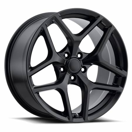 Factory Reproductions Wheels - FR Series 27 Replica Camaro Z28 Wheel 20X9 5X120 ET27 66.9CB Satin Black