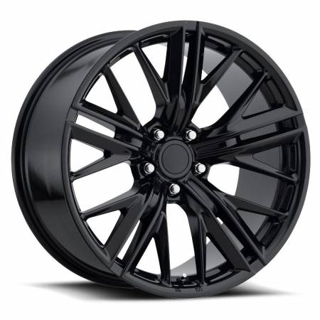 Factory Reproductions Wheels - FR Series 28 Replica Camaro Z28 Wheel 20X10 5X120 ET32 66.9CB Gloss Black