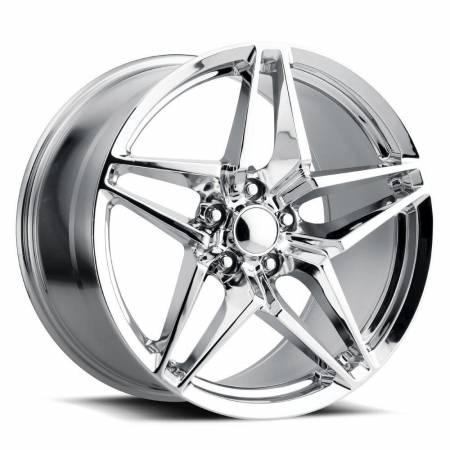 Factory Reproductions Wheels - FR Series 29 Replica Corvette ZR1 Wheel 19X12 5X4.75 ET59 70.3CB Chrome