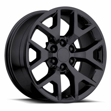 Factory Reproductions Wheels - FR Series 44 Replica GMC Sierra Wheel 22X9 6X5.5 ET31 78.1CB Gloss Black