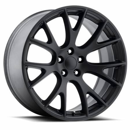 Factory Reproductions Wheels - FR Series 70 Replica Hellcat Wheel 22X10 5X115 ET18 71.5CB Satin Black