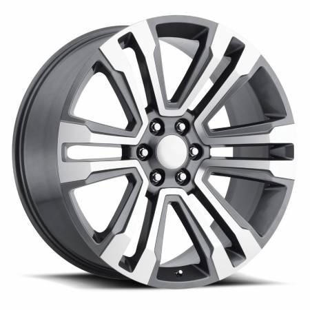 Factory Reproductions Wheels - FR Series 72 Replica Denali Wheel 22X9 6X5.5 ET24 78.1CB Grey Machine Face