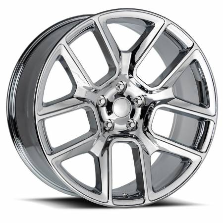 Factory Reproductions Wheels - FR Series 76 Replica Ram 1500 Wheel 24X10 5X5.5 ET15 77.8CB Chrome