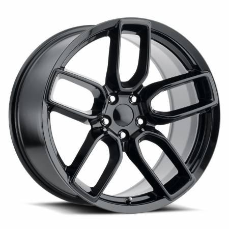 Factory Reproductions Wheels - FR Series 74 Replica Hellcat Wheel 20X10.5 5X115 ET22 71.5CB Gloss Black