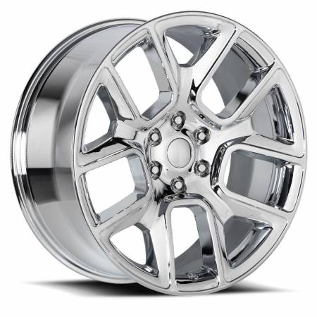 Factory Reproductions Wheels - FR Series 76 Replica Ram 1500 Wheel 22X9 6X5.5 ET15 77.8CB Chrome