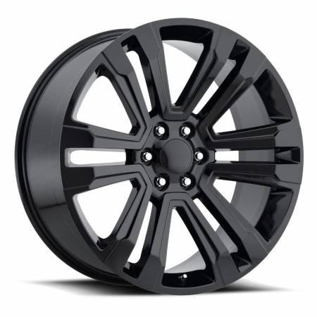 Factory Reproductions Wheels - FR Series 72 Replica Denali Wheel 22X9 6X5.5 ET24 78.1CB Gloss Black