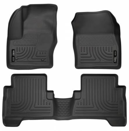 Husky Liners - Husky Liners 2013 Ford Escape WeatherBeater Combo Black Floor Liners