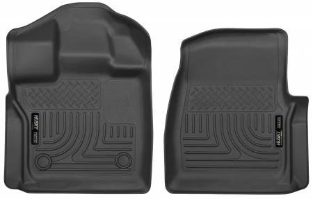Husky Liners - Husky Liners 2015 Ford F-150 Standard Cab Pickup WeatherBeater Front Black Floor Liners