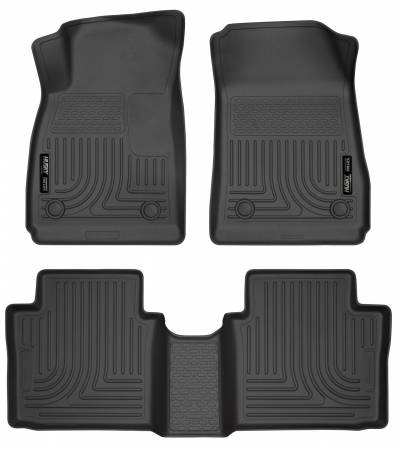 Husky Liners - Husky Liners 14 Chevrolet Impala Weatherbeater Black Front & 2nd Seat Floor Liners