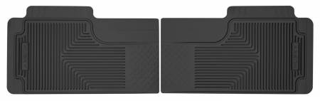 Husky Liners - Husky Liners 80-12 Ford F-150/00-05 Ford Excursion Heavy Duty Black 2nd Row Floor Mats
