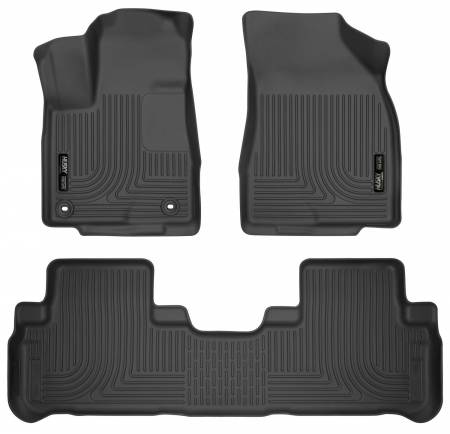 Husky Liners - Husky Liners 14 Toyota Highlander Weatherbeater Black Front & 2nd Seat Floor Liners