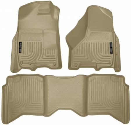 Husky Liners - Husky Liners 2012 Dodge Ram 1500/2500/3500 Crew Cab WeatherBeater Combo Tan Floor Liners