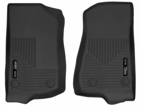 Husky Liners - Husky Liners 2018+ Jeep Wrangler X-Act Contour Black Front Floor Liners